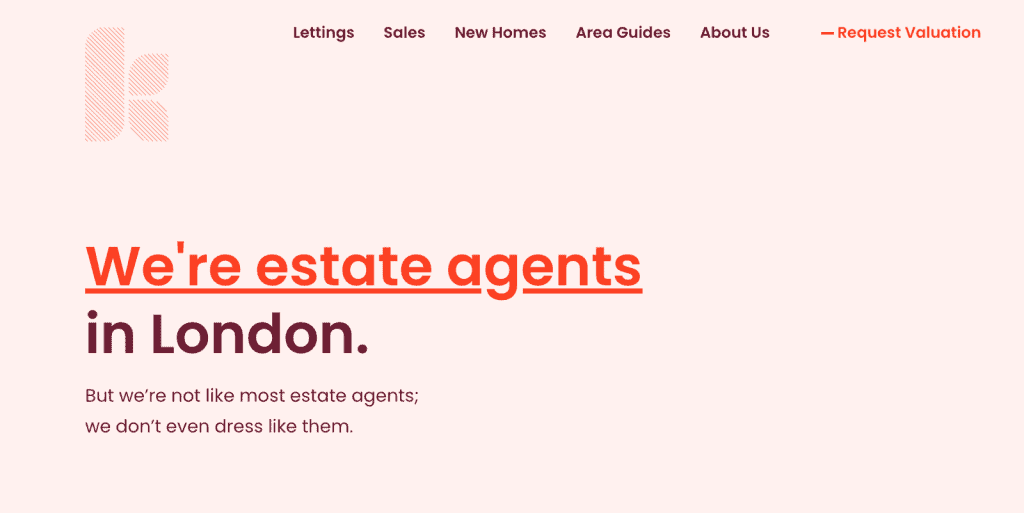 Keaton's real-estate agency home page